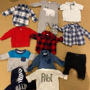 Assorted baby boy tops and pants